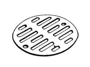 """3-5/16"""" Od Shower Drain Grid Ch PLUMB PAK Tub and Shower Drains and Parts"""
