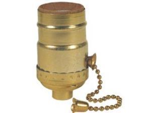 Westinghouse Lighting 7043100 Brass Finish 3-Way Pull Chain Socket