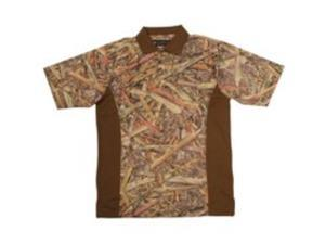 Longleaf Camo Llc 036BRFFM Nonlogo Camo Golf Shirt Medium - Each