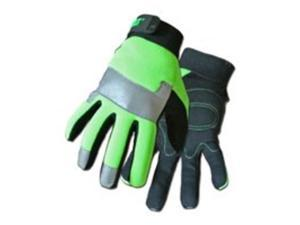 Cat Glove and Rainwear CAT012214L Spandex Hi-Vis Utility Gloves - Large