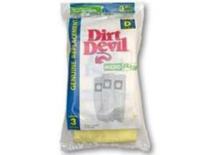 Vac Bags Type D Micro 3Pk ROYAL APPLIANCE MFG CO Vacuum Cleaner Bags