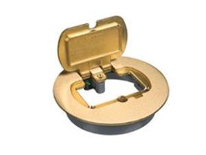 Thomas and Betts/Carlon E97BRR Floor Box Kit with Adapter, Brass