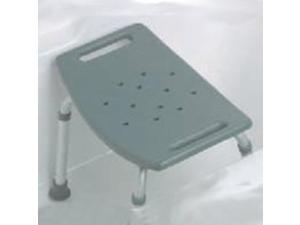 Medline Industries MDS89740KD Gray Bath Bench No Back - Each