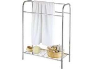 Homebasix BC15C-CH-3L Chrome Towel Stand With Shelf With Shelf - Each