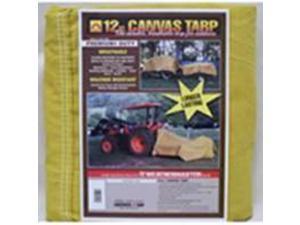 Dize CB1218D 12 ft. X 18 ft. 12 Ounce Canvas Tarp, Tan