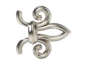 36-66In Nickel Fleur Rod Set PIEDMONT DRAPERY HARDWARE Curtain Rod 43992.783