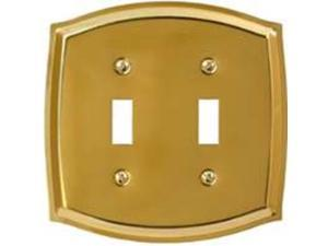 American Tack &  Hdwe Co 76TTBR 2-Toggle Plate P. Brass 2-Gang Toggle Solid