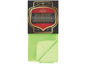 "Duo Sided Mesh Towel, 16"" X 24"", Plush Green, Microfiber SM ARNOLD 25-860"