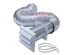 Kt Vnt Dry 5Pc 4In X 8Ft Plstc LAMBRO INDUSTRIES Dryer Vent Kits 1359W White