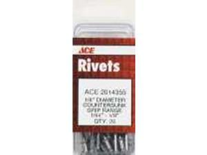 "25Ct 1/8"" Aluminum Rivets ACE Pop Rivets CAA42 082901016106"