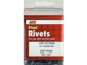 Rivet St1 / 8X1 / 4Ace 100Pk ACE Pop Rivets 2014280A 082901016038