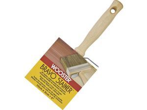 Wooster Brush F5119-4 Bravo Stainer 4-Inch Poly/Bristle Brush