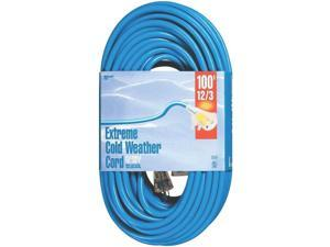 Tungsten Quartz Single Ended Extension Cord, 12/3, 100', 15A C Cable 2439 Blue