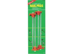 "Coghlans 10"" Nail Pegs -- pkg of 4"
