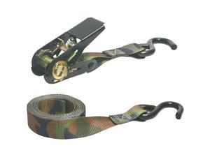 Keeper 03508-V 8ft Ratchet Tie-Down Camo 400 lbs. WLL   4 Pack