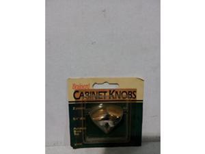 2Pk Brass Finish Cabinet Knobs Brainerd Doorknobs 904XC 022788009044