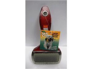 Large Slicker Pet Brush W/ Wood Handle Boss Pet Products Pet Supplies 6850