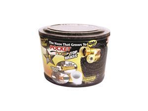 50Ft Pocket Hose w/Brass Connectors Telebrands Garden Hose 9911-12 097298026294