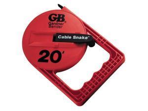 20' Cable Snake, Red Plastic Gardner Bender Misc. Electrical EFT-20P
