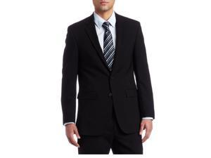 Kenneth Cole NY Men's Solid Black Slim Fit Wool Suit