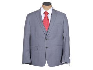 Calvin Klein Men's Gray Plaid 3 Piece Extreme Slim Fit Wool Suit