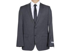 DKNY Men's Black Microstripe Slim Fit Wool Suit