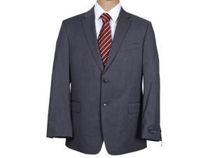 Tommy Hilfiger Men's Solid Dark Gray Trim Fit Wool Suit