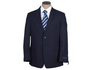Tommy Hilfiger Men's Dark Navy Blue Tonal Stripe Wool Suit