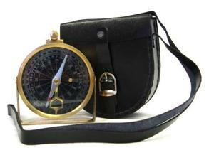 Brass Face Clinometer Compass with Case - Navigation