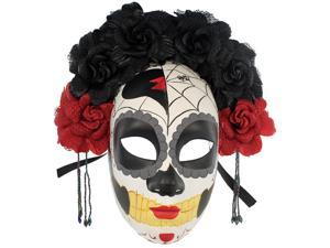 Calavera Day of the Dead Mask - Floral Veil Costume