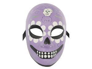 Purple Day of the Dead Skeleton Mask - Floral Skull - Dia De Los Muertos
