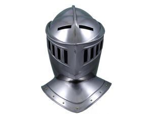 15th Century European Closed Knight Steel Helmet - Costume Armor