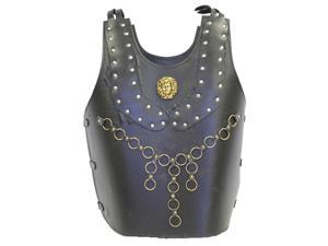 Leather Chest Plate with Brass Studs - Sphinx Head - Costume Armor