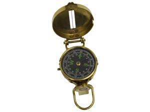Brass Lensatic Hiking Compass - Military Style