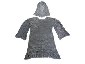 Chainmail Shirt and Coif Set - Medieval Costume Armor
