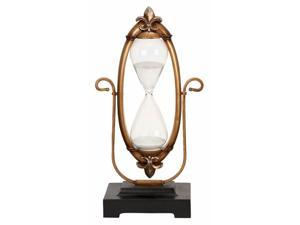 60 Minute Hourglass - Glass Sand Timer with Aged Victorian Frame