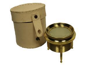 """2.5"""" Brass Chart Magnifier - Magnifying Glass - Desktop Map Reader"""