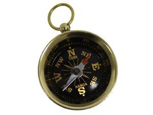 """Solid Brass 1 1/2"""" Pocket Compass: Camping and Hiking"""
