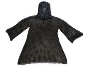 Black Chainmail Armor Set - Medieval Costume