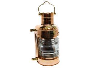 """15"""" Brass and Copper Cargo Lamp: English Ship Lantern Replica"""