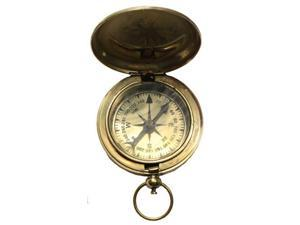 """2"""" Brass Face Pocket Compass - Camping Accessory"""