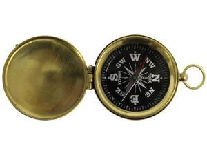 "1 3/4"" Hiking Compass with Cover and Black Face"