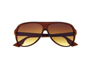 Men's Plastic Tear Drop Frame Aviator Sunglasses Sunnies Gradient Thick Brown