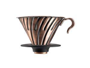 Hario Vintage Inspired All Metal 02 Coffee Dripper Stainless Steel V60 Copper