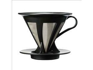 Hario Paperless Coffee Dripper Black Stainless Steel Filter Reusable CFOD-02