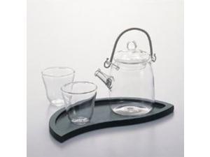 Hario Asian Japanese Tea Set Tray Cup Pot All Glass Green Tea Gift QSAN-3512