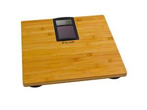 Escali Solar Bamboo Bathroom Scale Weight Bath 400 lb 180 kg