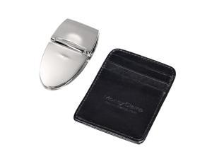 Money Clamp Milan Silver With Black Wallet Clip