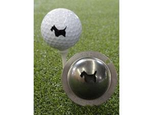 Tin Cup Scotty The Terrier Golf Ball Custom Marker Alignment Tool