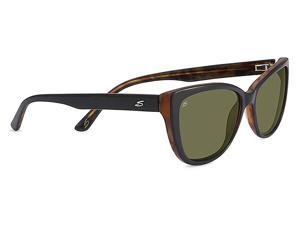 Serengeti Eyewear Sunglasses Sophia 7890 Shiny Black/Tortoise Polar 555nm Lens